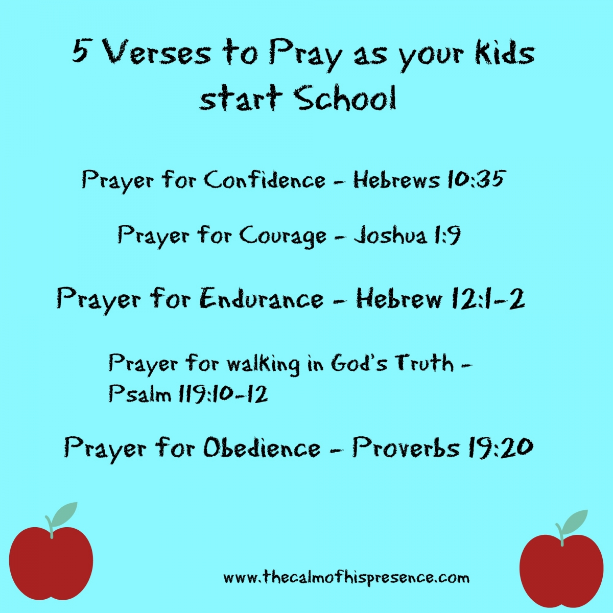 5 Verses to Pray as your kids start school » The calm of ...
