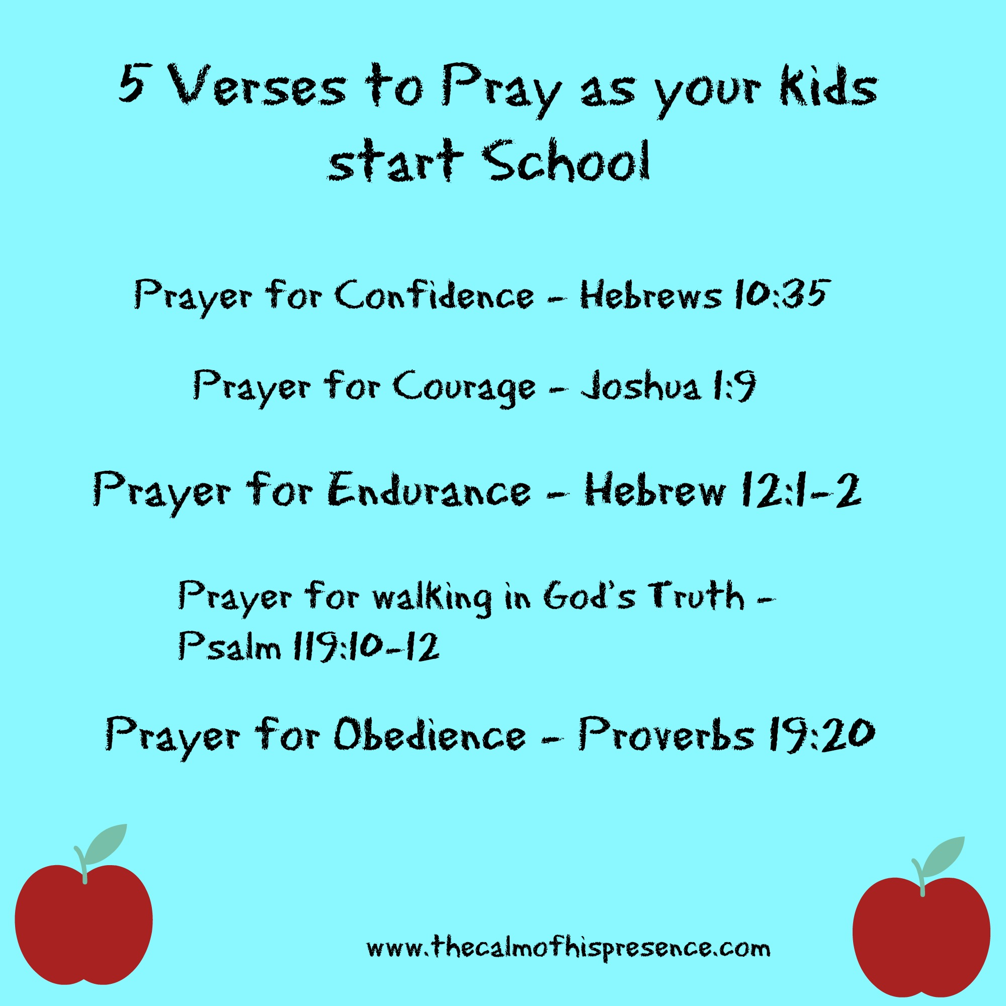 5 Verses To Pray As Your Kids Start School » The Calm Of